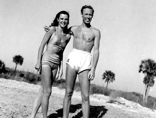 Rosemary and Walter Farley at the Beach 1946