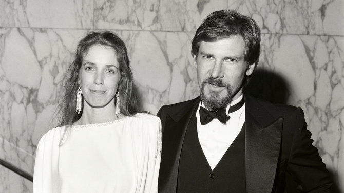 Mandatory Credit: Photo by Harry Myers/REX Shutterstock (622206f) Melissa Mathison and Harrison Ford 'E.T.' Film Premiere, London, Britain - 09 Dec 1982